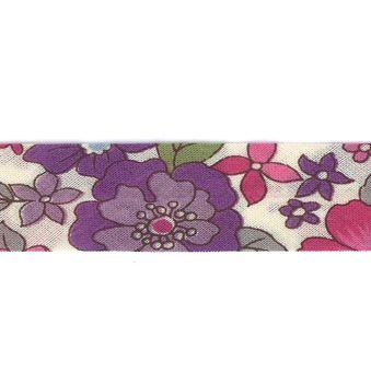 Frou-Frou Bias 20mmx2m Fleuri Violet clair 4213-0-12 petite image