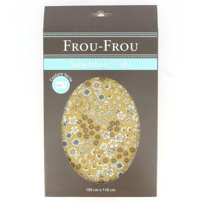 TISSU COUPON FROU-FROU FLEURI 150x110cm Moutarde 4619-0-22 image