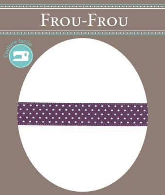 Ruban Satin Plumetis Frou-Frou 9mm Violet foncé 4716-9-47 petite image