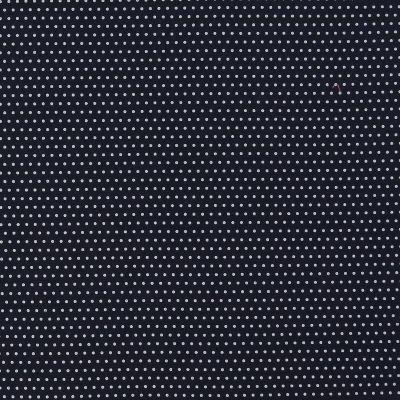 TISSU FROU-FROU TOUT CE QUI BRILLE Bleu marine POIS ARGENT 2654-0A720 petite image